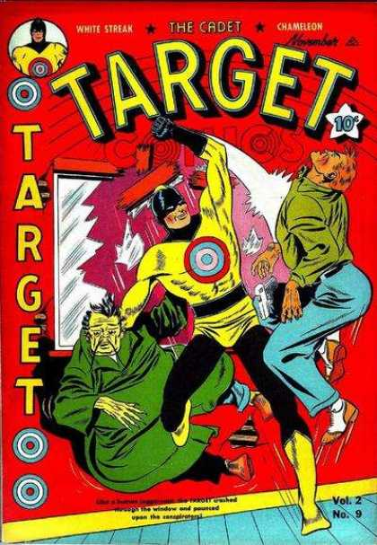 Target Comics 21 - White Streak - The Cadet - Chameleon - Fight - Broken Window