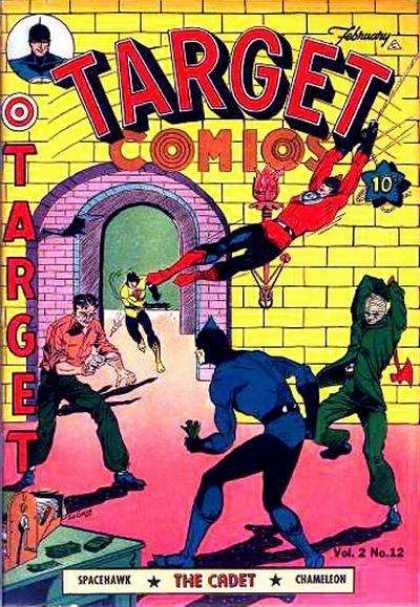 Target Comics 24 - Spacehawk - Cadet - Swinging - Fighting - Battle