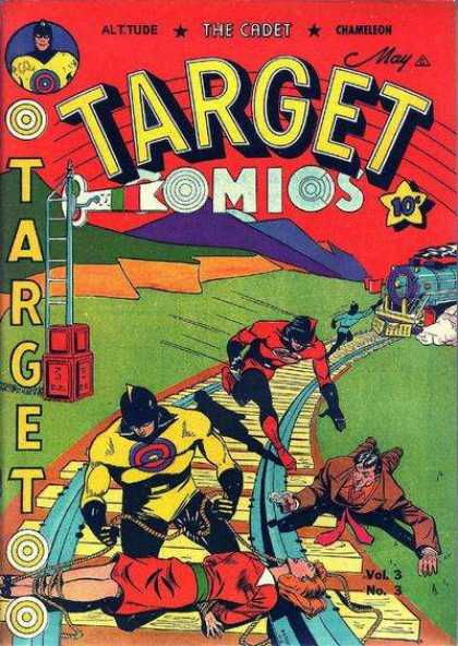 Target Comics 27 - The Cadet - Target - Railroad Tracks - Train - May