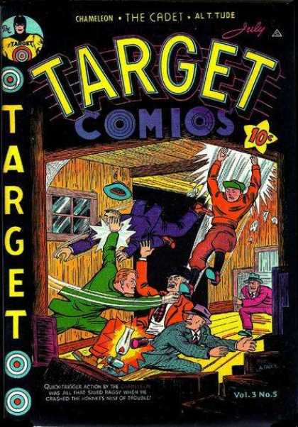 Target Comics 29 - The Cadet - Fight - Wooden Building - Chameleon - Gangsters