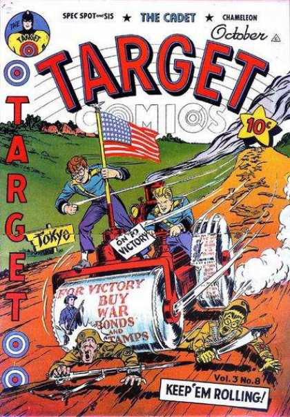 Target Comics 32 - American Flag - Tokyo - On To Victory - Steamroller - Hitler