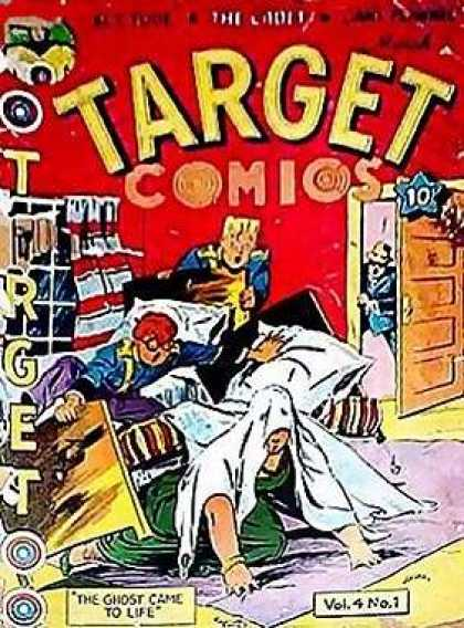 Target Comics 37 - Vibrant Red - Unknown To Me - Slumber Party - Broken Bed - Surprised Parent
