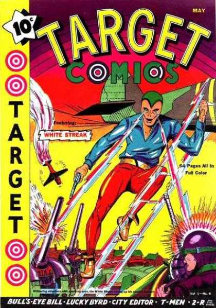 Target Comics 4 - White Streak - Lucky Byrd - Bulls-eye Bill - City Editor - T-men