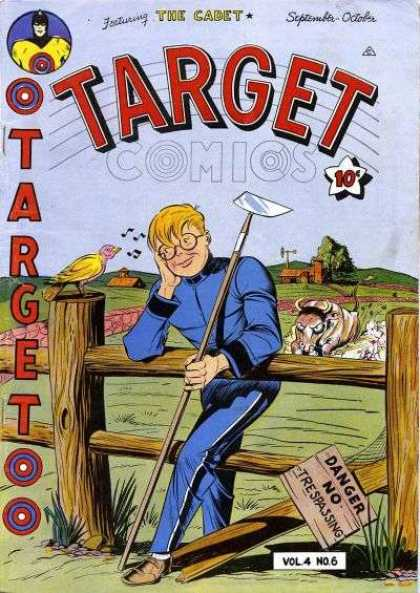 Target Comics 42 - Target Comics - Garden Hoe - Angry Animal - Danger - No Tresspassing