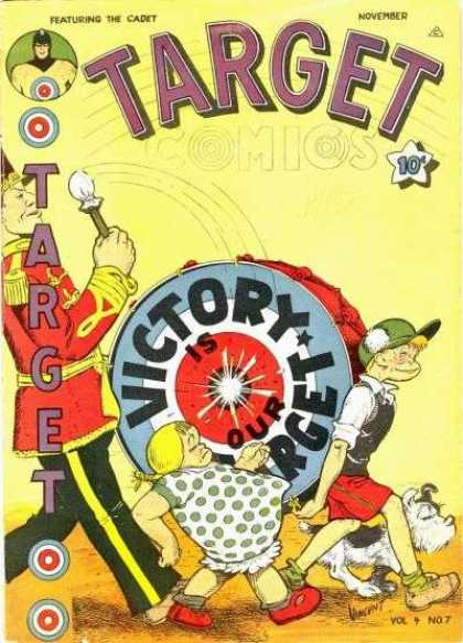 Target Comics 43 - Victory Is Our Target - Drum - Marching Band Uniform - Polka Dot Dress - The Cadet