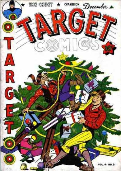 Target Comics 44 - Target - The Cadet - Christmas Tree - Chameleon - Presents