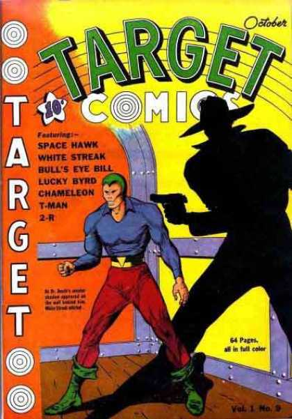 Target Comics 9 - Space Hawk - White Streak - Lucky Byrd - Chameleon - T-man