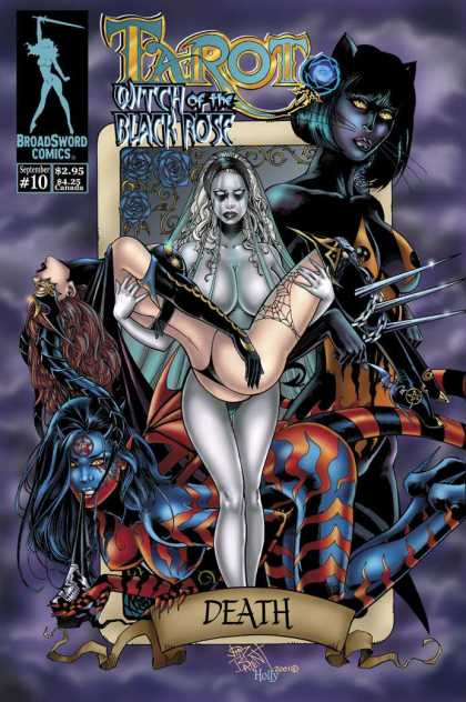 Tarot 10 - Witch Of The Black Rose - Broad Sword Comics - Death - Naked Women - Monster