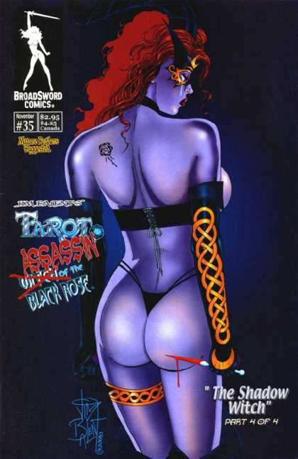 Tarot 35 - Woman - Redhead - Broadsword Comics - Gloves
