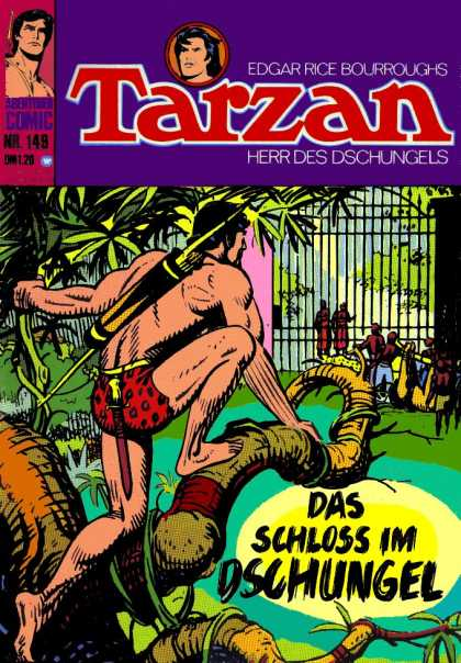 Tarzan (German) 12 - Jungle - Tree - Bow And Arrow - King Of The Jungle - Fence