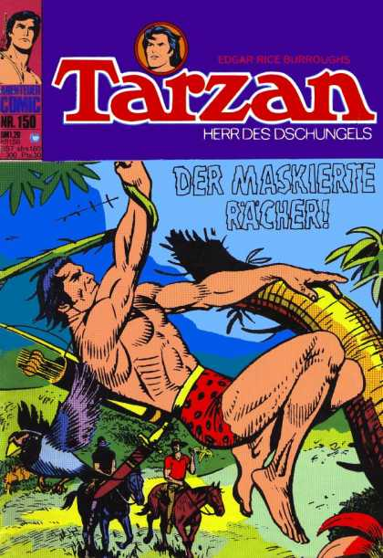Tarzan (German) 13 - Jungle - Edgar Rice Burroughs - Exotic Bird - Horseback - Arrows