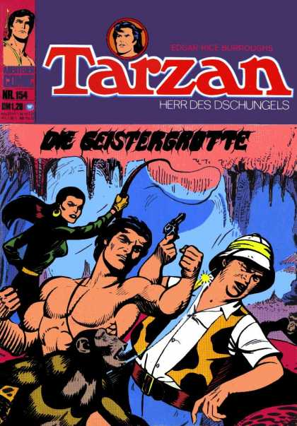 Tarzan (German) 16 - German Comic - Monkey - Woman With Whip - Punch - Jungle Man
