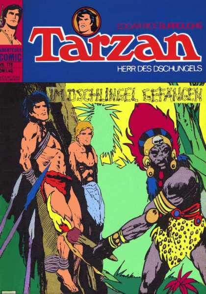 Tarzan (German) 28 - Men - Jungle - Spears - Native - Headdress