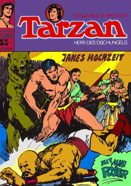 Tarzan (German) 33 - Gun - Janes Hochzeit - Three Men - One Women - Mit Mini Poster