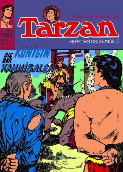 Tarzan (German) 34 - Skull - Kannibalen - German Comics - Queen - Scalves