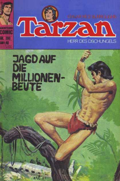 Tarzan (German) 48 - Tree - Brand - Swing - Loin Cloth - Muscles