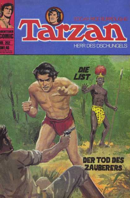 Tarzan (German) 49 - Die List - Die Tod Des Zauberers - Tribesman - Man With Pistol - Tarzan Reaching For Pistol