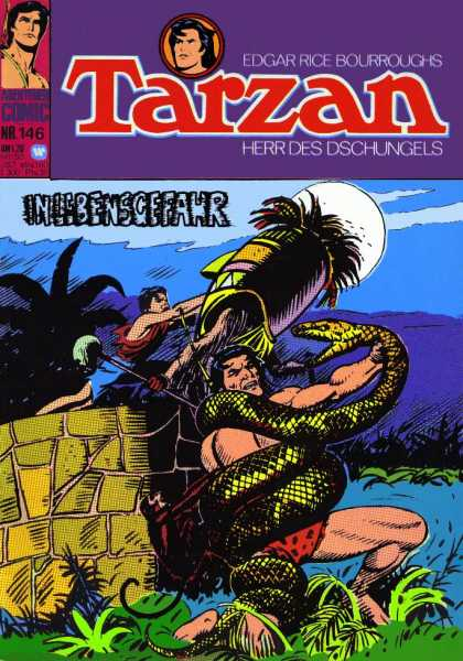 Tarzan (German) 9 - Water - Snake - Men - Moon - Sky