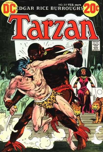 Tarzan of the Apes (1972) 11 - Leopard Print Loin Cloth - Big Jungle Cats - Warriors - Queen In Red Dress - Getting Stabbed