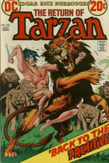 Tarzan of the Apes (1972) 15 - Lion - Edgar Rice Burroughs - Struggle - Knife - Primitive