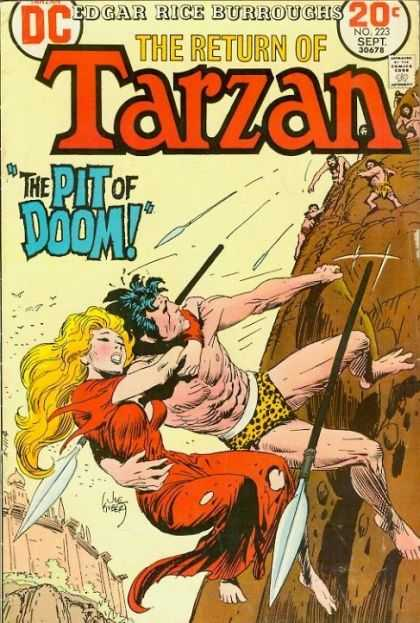 Tarzan of the Apes (1972) 17 - The Pit Of Doom - Spears - Climbing Up Cliff - Edgar Rice Burroughs - Cavemen