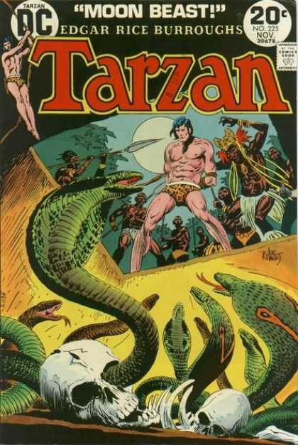 Tarzan of the Apes (1972) 19 - Cobras - Skulls - Snakes - Pit Of Snakes - Primitive Tribe