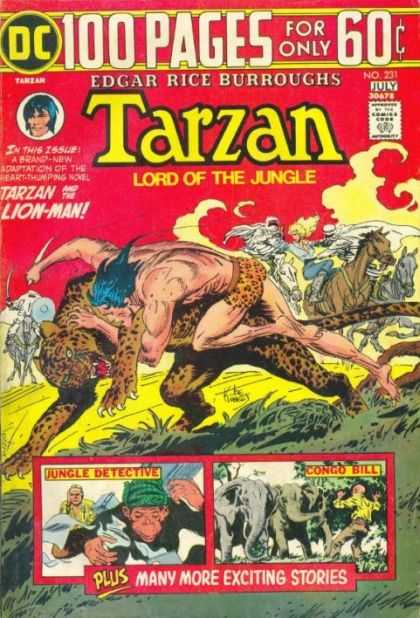 Tarzan of the Apes (1972) 25 - Lion-man - Jungle Detective - Congo Bill - Edgar Rice Burroughs - Cougar