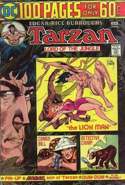 Tarzan of the Apes (1972) 28 - Lion Man - Dc - Dc Comics - Tarzan - Lord Of The Jungle