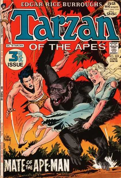 Tarzan of the Apes (1972) 3 - Edgar Rice Borroughs - Dc - Torn Dress - Monkey - Ape-man