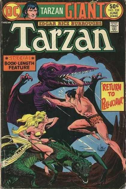 Tarzan of the Apes (1972) 32 - Dinosaur - Giant - Special - Return To Pellucidar - Woman