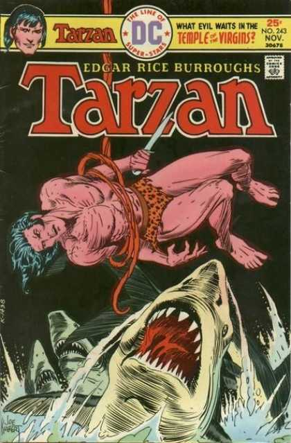 Tarzan of the Apes (1972) 37 - Dagger - Vine - Shark - Water - Temple Of The Virgins