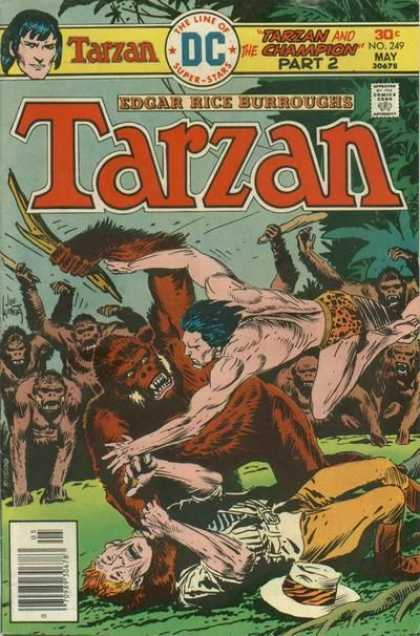 Tarzan of the Apes (1972) 43 - Dc Comics - Edgar Rice Burroughs - Ape - Stick - Cheetah Print