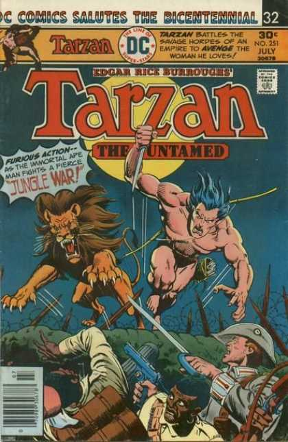 Tarzan of the Apes (1972) 45 - Lion - Untamed - Knife - Gun - Approved By The Comics Code