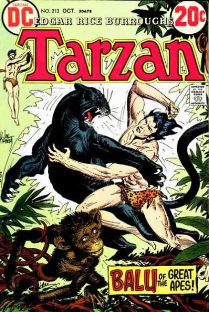 Tarzan of the Apes (1972) 7 - Chimp - Knife - Panther - Jungle - Dc