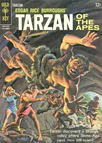 Tarzan of the Apes 19 - Gold Key - Edgar Rice Burroughs - Cave - Tree - Fight