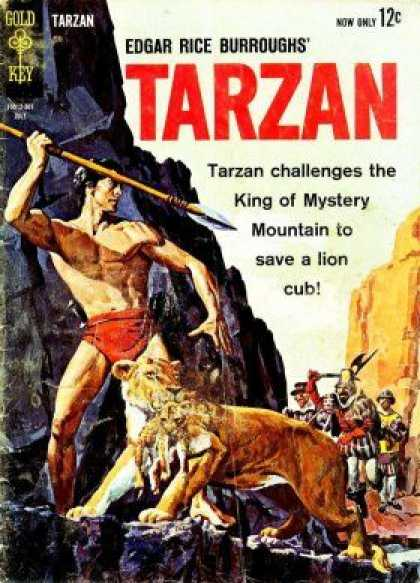 Tarzan of the Apes 3 - Edgar Rice Burroughts - Gold Key - King Of Mystery - Lioness - Lance
