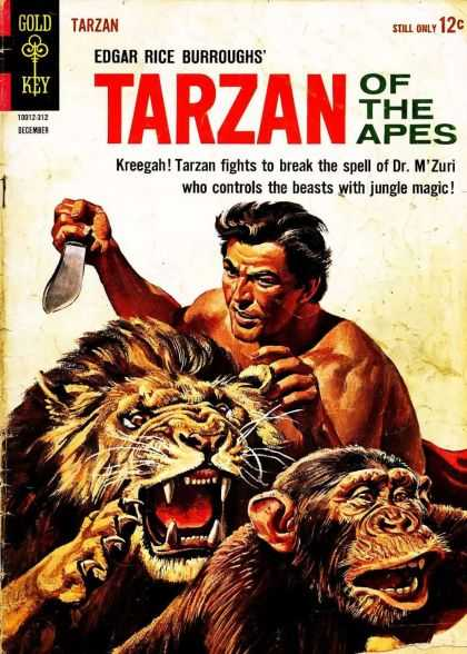 Tarzan of the Apes 6 - Gold Key - Knife - Lion - Edgar Rice Burroughs - Weapon