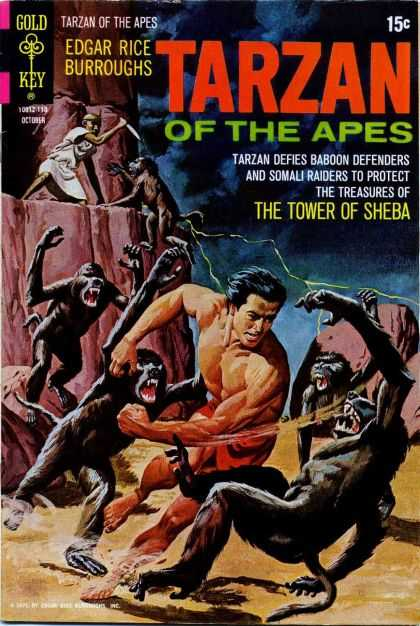Tarzan of the Apes 71 - Baboons - Tower Of Sheba - Edgar Rice Burroughs - Classic - Lightening