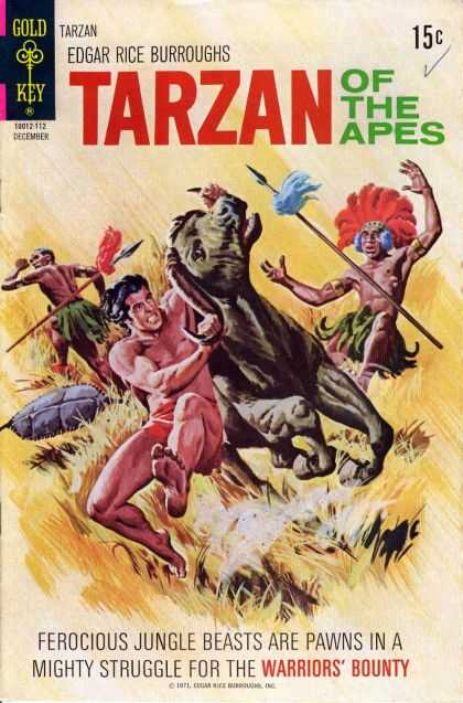 Tarzan of the Apes 72 - Gold Key - Edgar Rice Burroughs - Horse - Indians - Lances