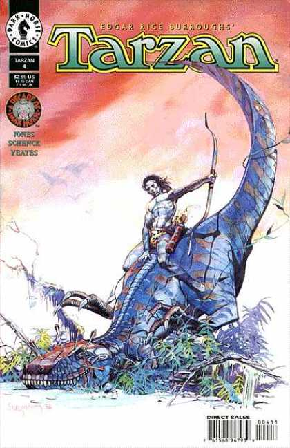 Tarzan 4 - Edgar Rice Burroughs - Dark Horse Comics - Science Fiction - Dinosaur - Bow U0026 Arrows