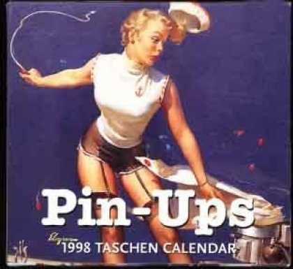 Taschen Books - Pin-Ups 1998 Taschen (Tear Off) Pin-Up Girl Calendar; Elvgren Cover Illustration