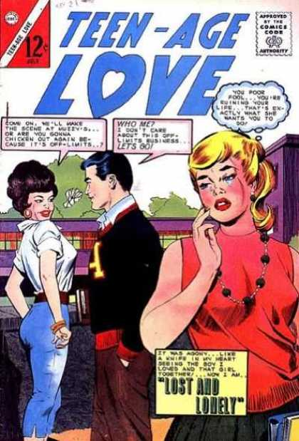 Teen-Age Love 38 - Approved By The Comics Code - Woman - Man - Lost And Lonely - Tree
