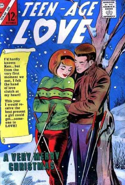 Teen-Age Love 44 - Love - Teen Agers - 12 An Issue - Snowing - Couple On The Front