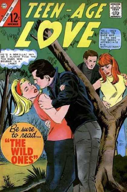 Teen-Age Love 50 - Lovers - Man - Lady - Tree - Leaves