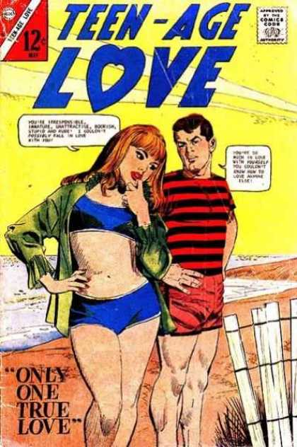 Teen-Age Love 53 - Approved By The Comics Code Authority - Only One True Love - 12 - Man - Woman