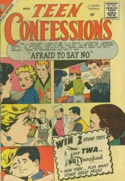 Teen Confessions 4 - Afraid To Say No - Approved Of The Comics - Win 2 Round Trips - Fly Twa Disneyland - New Yorkplus Other Great Prizes