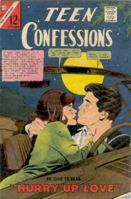 Teen Confessions 40 - Hurry-up Love - Teenagers - Car - Kissing - Night