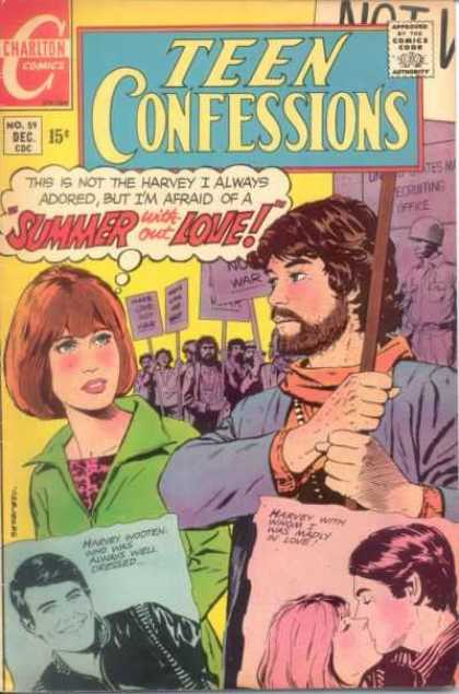 Teen Confessions 59 - Protest - Anti-war - Harvey With Whom I Was Madly In Love - Bearded Man - Summer Without Love