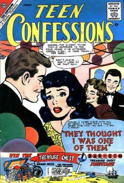 Teen Confessions 9 - Party - Balloons - Brunette - Treasure Chest - Tuxedo