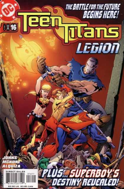 Teen Titans (2003) 16 - Battle For The Future - Legion - Superboy - Axe - Johns Mckone Alquiza - Mike McKone